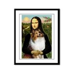 Mona's Sable Sheltie Framed Panel Print