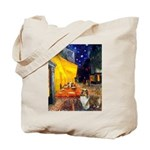Cafe / Sheltie Tote Bag