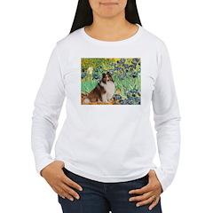 Irises / Sheltie Women's Long Sleeve T-Shirt