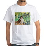 Irises / Sheltie White T-Shirt