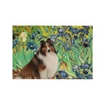 Irises / Sheltie Rectangle Magnet