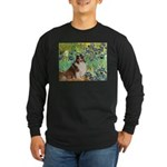 Irises / Sheltie Long Sleeve Dark T-Shirt