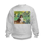 Irises / Sheltie Kids Sweatshirt