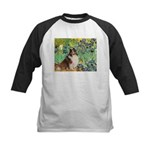 Irises / Sheltie Kids Baseball Jersey