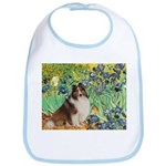 Irises / Sheltie Bib