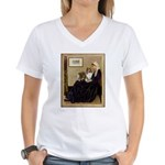 Whistler's / Sheltie Women's V-Neck T-Shirt