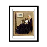 Whistler's / Sheltie Framed Panel Print