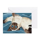 Siamese Kitten Greeting Card