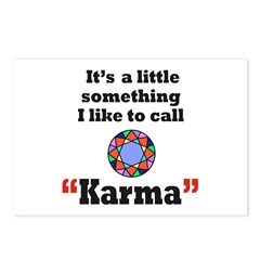 It's something I call Karma Postcards (Package of