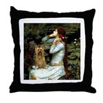 Ophelia / Silky T Throw Pillow