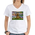 Lilies / Silky T Women's V-Neck T-Shirt