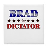 BRAD for dictator Tile Coaster