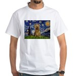 Starry Night / Silky T White T-Shirt