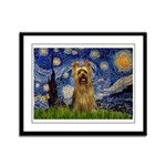 Starry Night / Silky T Framed Panel Print