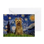 Starry Night / Silky T Greeting Card