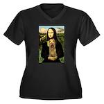 Mona Lisa / Silky T Women's Plus Size V-Neck Dark