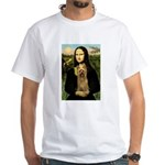 Mona Lisa / Silky T White T-Shirt