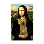 Mona Lisa / Silky T Sticker (Rectangle)