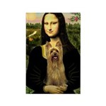Mona Lisa / Silky T Rectangle Magnet