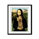 Mona Lisa / Silky T Framed Panel Print