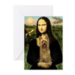 Mona Lisa / Silky T Greeting Cards (Pk of 10)