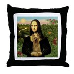 Mona Lisa / Silky T Throw Pillow