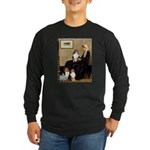 Whistler's / 3 Shelties Long Sleeve Dark T-Shirt