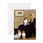 Whistler's / 3 Shelties Greeting Cards (Pk of 10)
