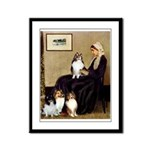 Whistler's / 3 Shelties Framed Panel Print