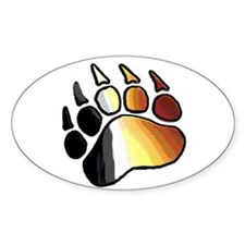 BEAR PRIDE PAW2/TONES Oval Decal