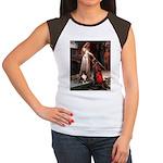Accolade / Sheltie tri Women's Cap Sleeve T-Shirt