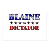BLAINE for dictator Postcards (Package of 8)