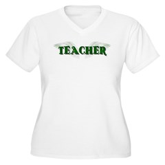 Angel Wings Teacher Women's Plus Size V-Neck T-Shi