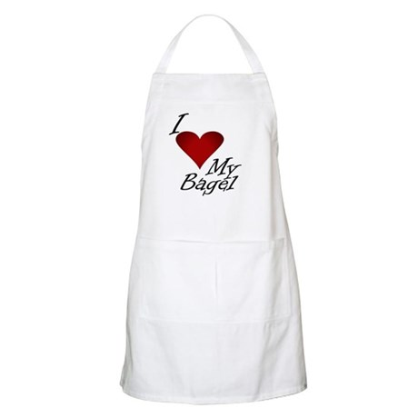 I Love My Bagel BBQ Apron