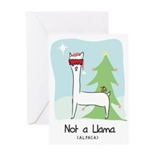 Larry Not a Llama Christmas Greeting Card