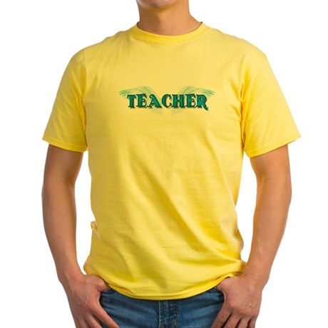 Angel Wings Teacher Yellow T-Shirt