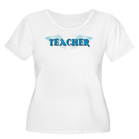 Angel Wings Teacher Women's Plus Size Scoop Neck T