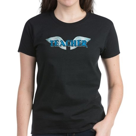 Angel Wings Teacher Women's Dark T-Shirt