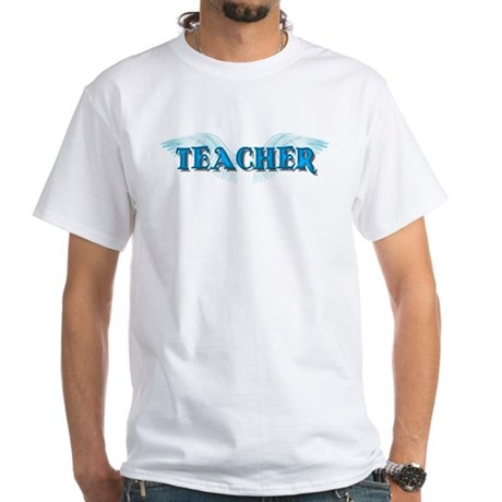 Angel Wings Teacher White T-Shirt