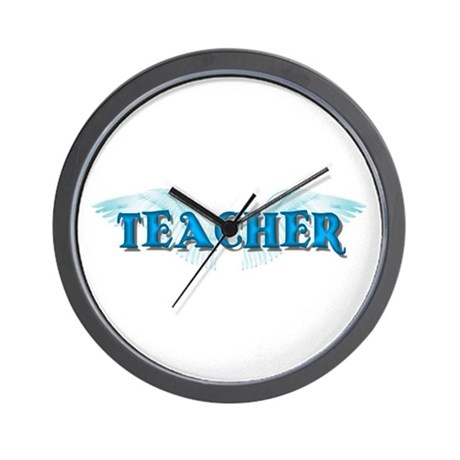 Angel Wings Teacher Wall Clock