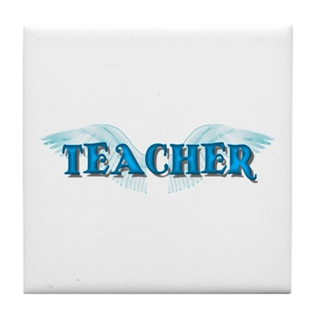 Angel Wings Teacher Tile Coaster