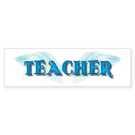 Angel Wings Teacher Bumper Sticker