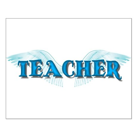 Angel Wings Teacher Small Poster