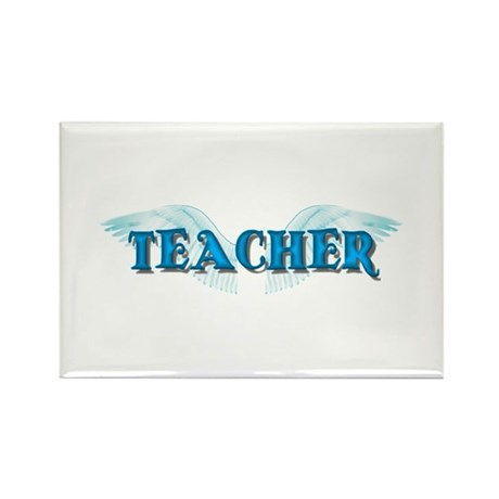 Angel Wings Teacher Rectangle Magnet