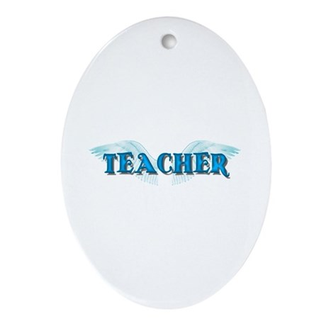 Angel Wings Teacher Oval Ornament