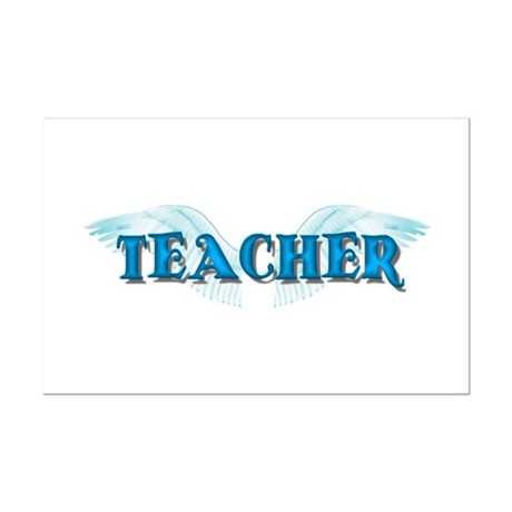 Angel Wings Teacher Mini Poster Print