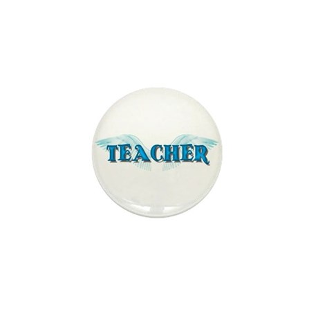 Angel Wings Teacher Mini Button