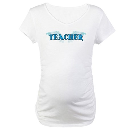 Angel Wings Teacher Maternity T-Shirt