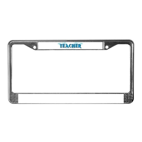 Angel Wings Teacher License Plate Frame