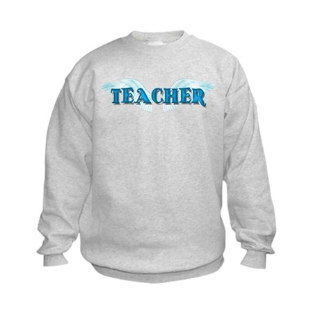 Angel Wings Teacher Kids Sweatshirt